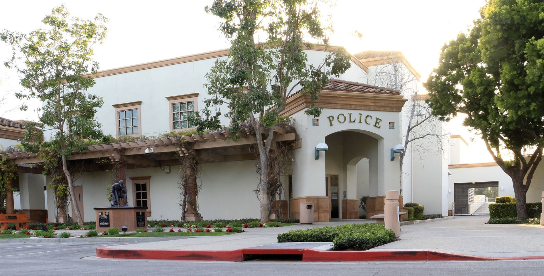 Front of Tustin Police Department